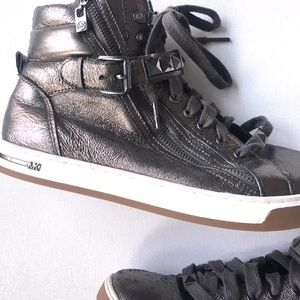 MK Michael Kors shimmer high top sneakers Size 9.5